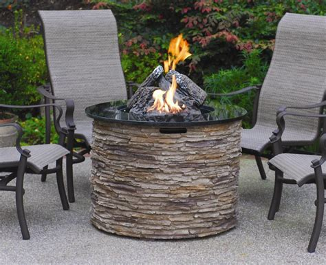 stone gas fireplace stone gas fire pit fireplace design ideas