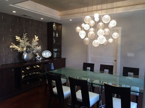 mod chandelier contemporary dining room new york