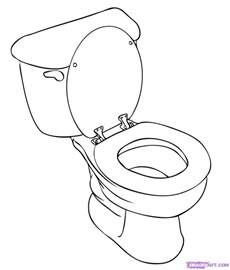 drawing the color line how to draw a toilet step by step stuff pop culture