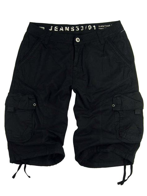 stone touch mens military style cargo pocket shorts