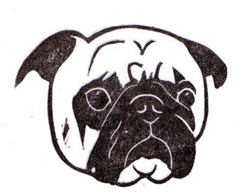 pug stencil 17 best images about pug on cat paw print fawn pug and the pug