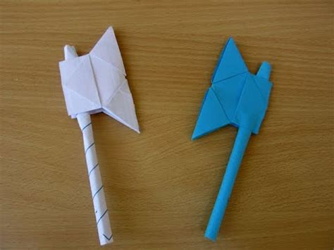 How To Make A Paper Axe - how to make a paper battle axe easy tutorials