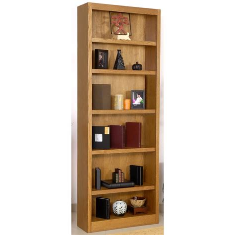 concepts in wood 6 shelf bookcase 206542 office at