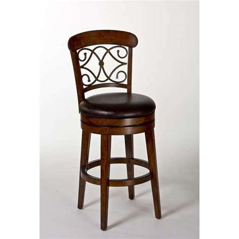 bar stools cherry wood hillsdale bergamo 26 quot swivel counter stool in medium brown