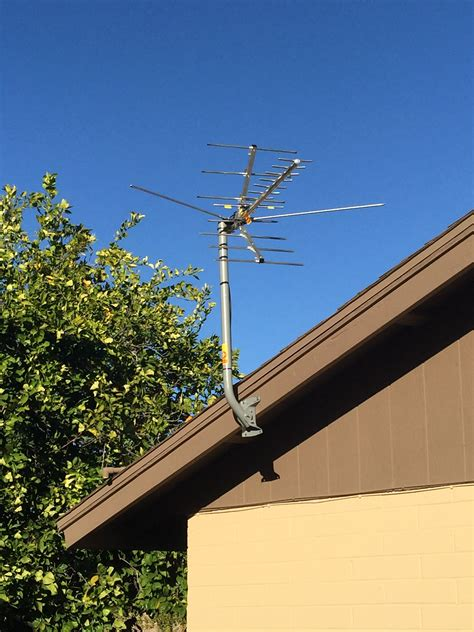 antenna roof  antenna pole   roof  house stock