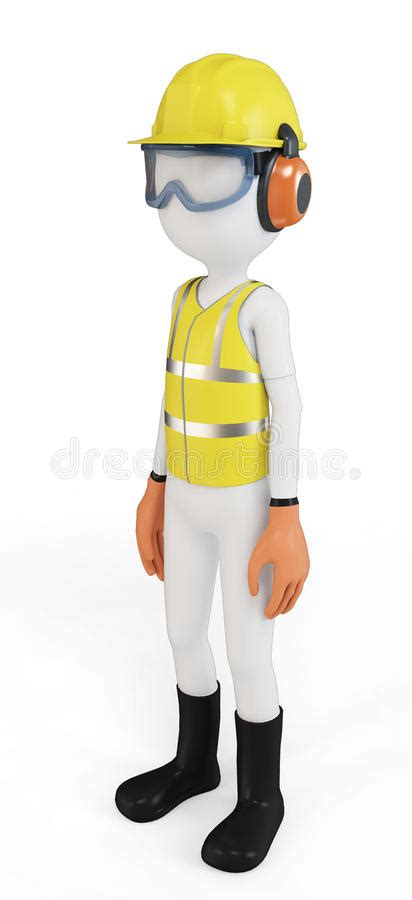 Stock Illustration Of 3d Man With Safety Equipment On | 3d man with safety equipment stock illustration
