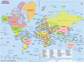 show me the map of world map political map of the world