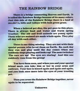 Rainbow bridge missing someone in heaven poems