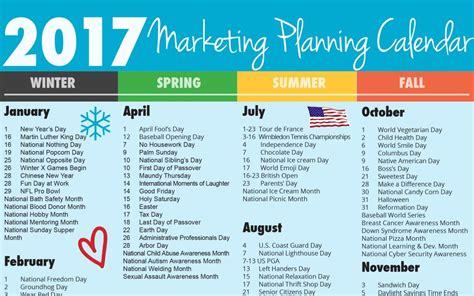 Calendar 2018 National Days Ultimate 2017 Marketing Planning Calendar