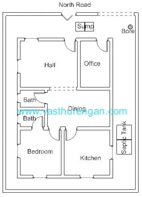 vastu plan for facing plot 3 vasthurengan