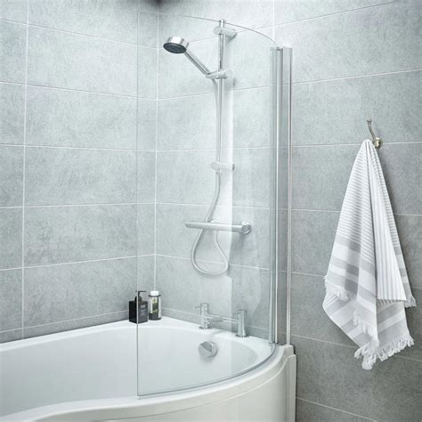 curved shower screens bath 1400 curved shower bath screen at plumbing uk