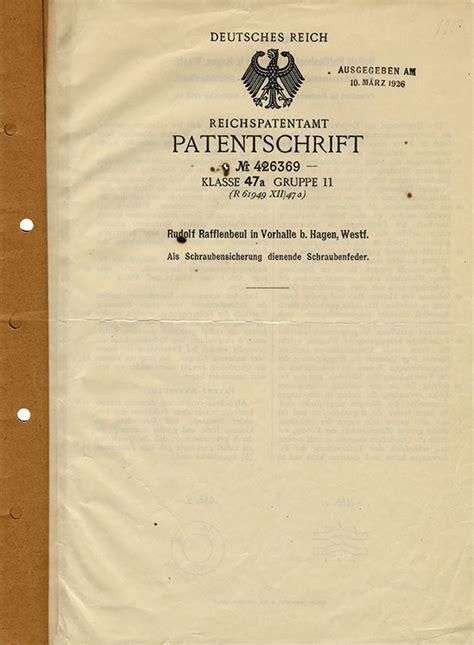 ufficio brevetti svizzera brevetti di rudolf rafflenbeul stahlwarenfabrik