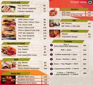 snack bar menu template a ha snack bar menu menu for a ha snack bar viman nagar