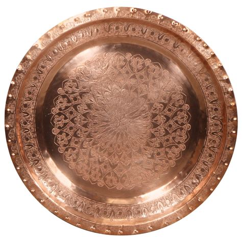 Styles Of Furniture For Home Interiors large antique moroccan copper tray for sale at 1stdibs