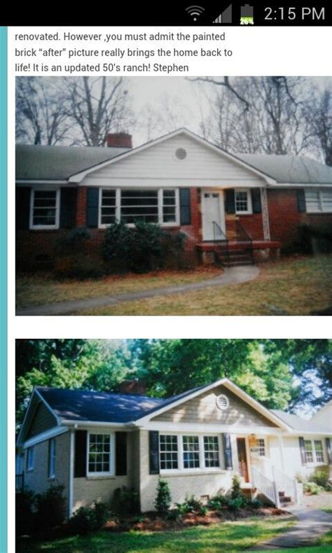 exterior brick paint before and after 25 best ideas about painted brick ranch on
