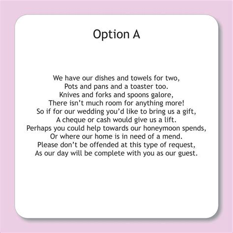 wording for wedding invitations asking for money   Google