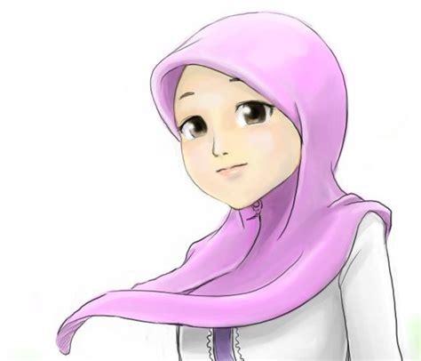 wallpaper animasi cantik gambar kartun cewek cantik berjilbab gambar kartun gadis