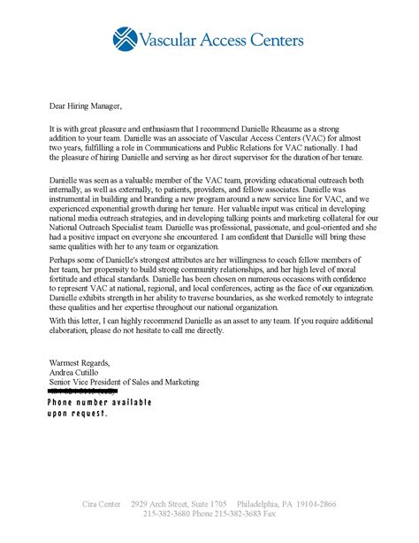 ideas collection letter of recommendation professional example with