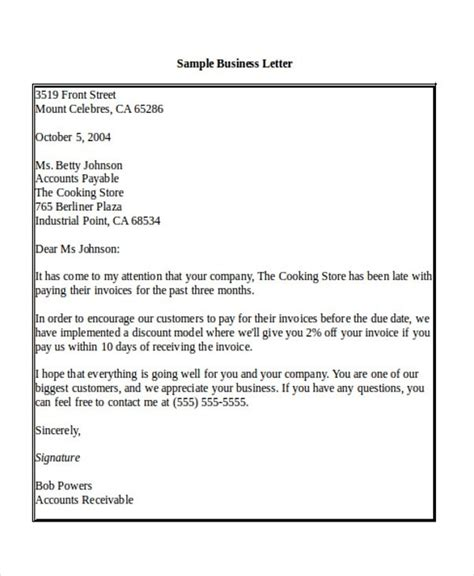 Business Letter Greeting salutation in a business letter the best letter sle