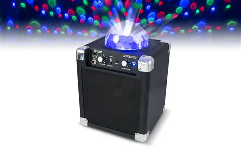 ion house party house party compact wireless speaker system with built in light show ion audio