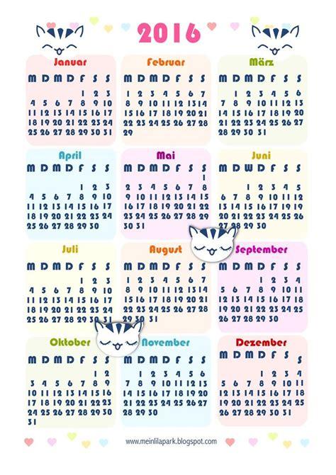 Kalender Englisch Free Printable 2016 Calendar Kostenlos Ausdruckbarer