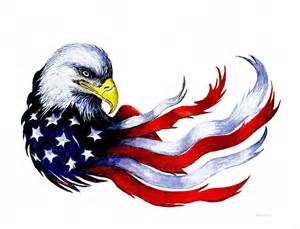 Duvet Clip Patriotic Eagle Signed Painting By Andrew Read