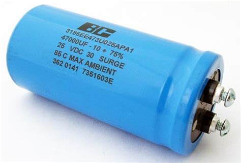 types of computer capacitor 47000uf 25v computer grade capacitor bc components 3186ee473u025apa1 west florida components