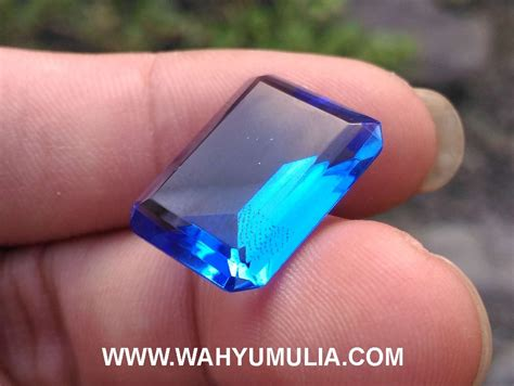 Batu Obsidian Kotak Blue Biru batu blue obsidian kode 392 wahyu mulia