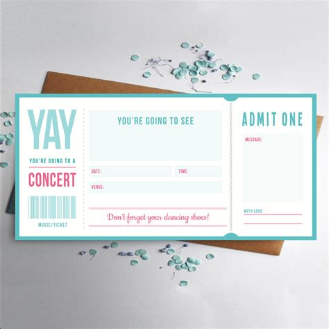 music ticket concert gift