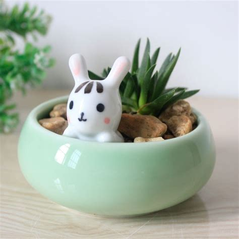 animal pots cute animal planters super cute kawaii