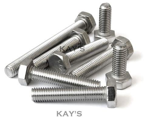 Baut Stainless Steel M 6 X 80 Mm unc hexagon set screws fully threaded bolts zinc plated 1