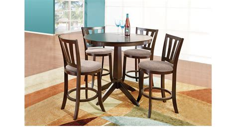 adelson chocolate 5 pc counter height dining room dining adelson chocolate 5 pc best free home design idea