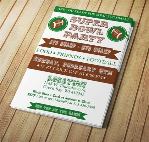 bowl invitation template 29 best images about bowl invitations templates and
