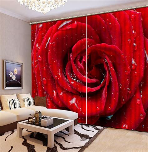 red curtains for sale 3d curtains red rose curtains for living room 3d window
