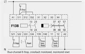 www tesch de f138 e stop relay e stop relay and safety gate monitor