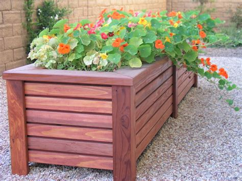 Best Wood For Planters by Custom Wood Planter