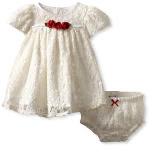 Hartstrings baby girls newborn knit lace dress and diaper cover set