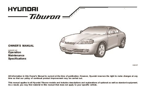 service manual 2004 hyundai tiburon owners repair manual service manual 2004 hyundai tiburon