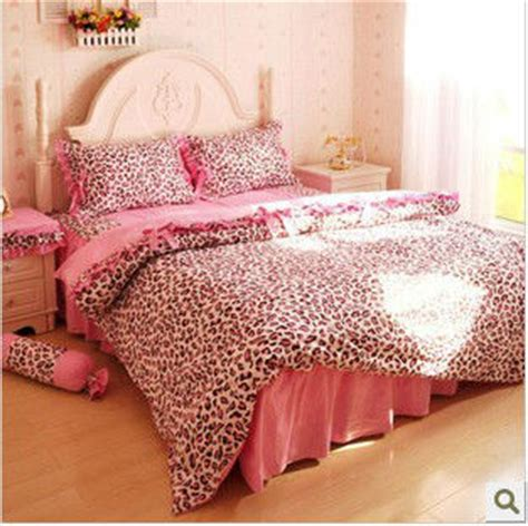 leopard bed set 100 cotton pink leopard queen size bed set bedding set