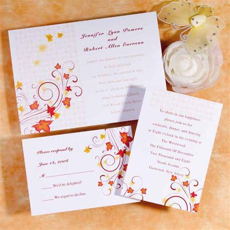 inexpensive wedding invitations maple leaves burst flat wedding invitation uki085 uki085 163 0 00 cheap wedding invitations