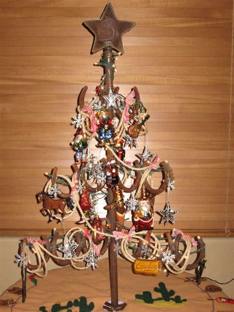 horseshoe christmas tree my husband welded for me
