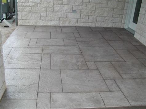 patio flooring sted concrete patio floor hmmm not a bad idea