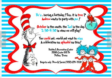 dr seuss invitation template dr seuss theme planning ideas supplies