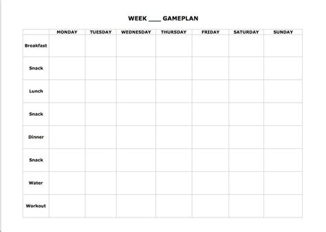 blank meal planner sheets blank meal plan 21day fix pinterest meals and worksheets