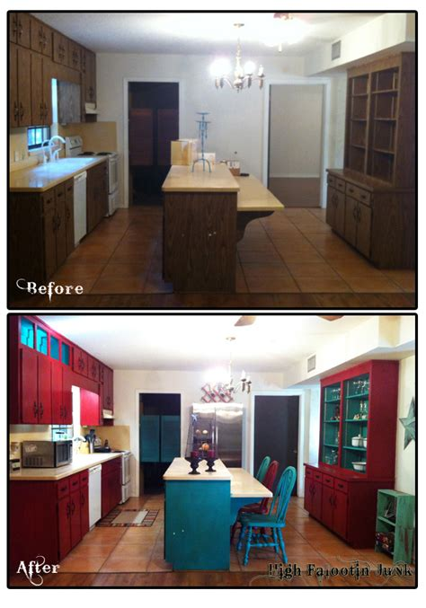 chalk paint kitchen cabinets before and after kitchen cabinet makeover with chalk paint high falootin