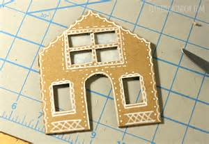 Art To Decorate Your Home tiny cardboard gingerbread houses little red window