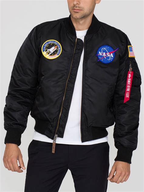 Ma 1 Nasa Bomber alpha industries mens ma 1 vf nasa flight bomber jacket