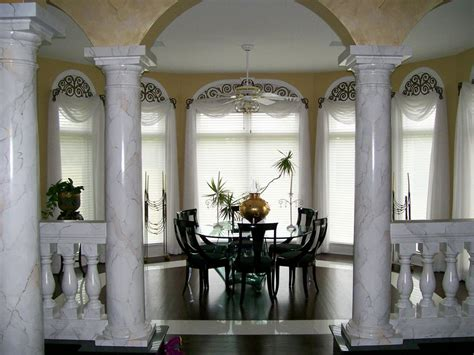 interior house columns decorating columns home design