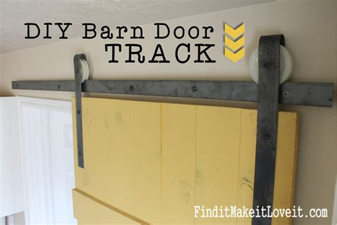 How To Make Sliding Barn Door Hardware Diy Barn Door Track Find It Make It It