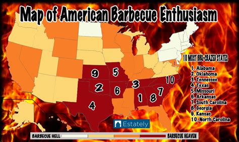 texas bbq map the most barbecue crazed states in america estately